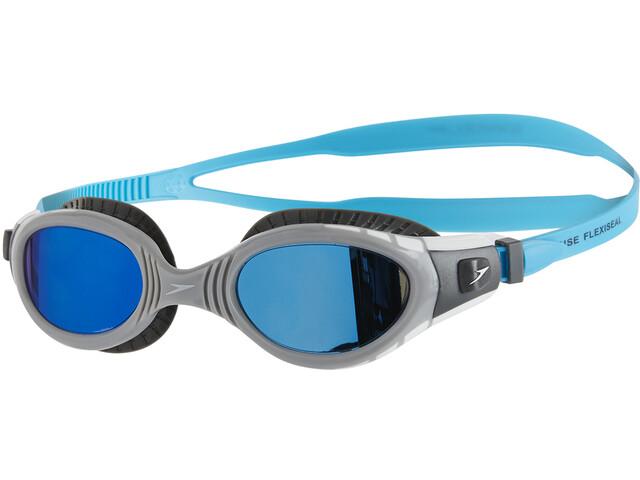 speedo Futura Biofuse Flexiseal Mirror Goggles Unisex usa charcoal/grey/blue mirror
